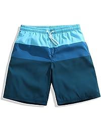 マルチサイズ 防水クイックドライサーフパンツ 軽量ルーズ メンズショーツ シーサイドリゾート (サイズ : XXL)