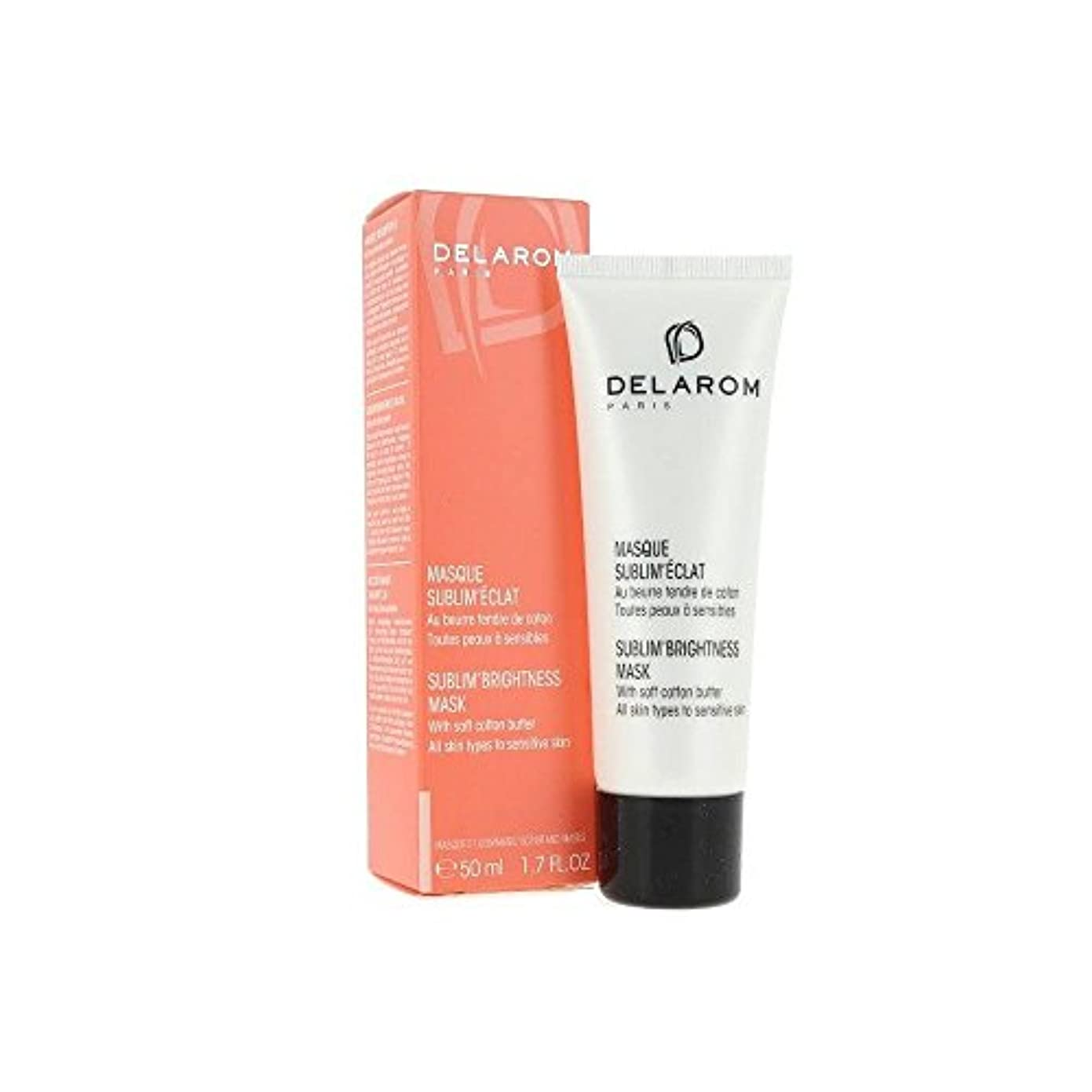 頬褒賞水没DELAROM Sublim' Brightness Mask - For All Skin Types to Sensitive Skin 50ml/1.7oz並行輸入品