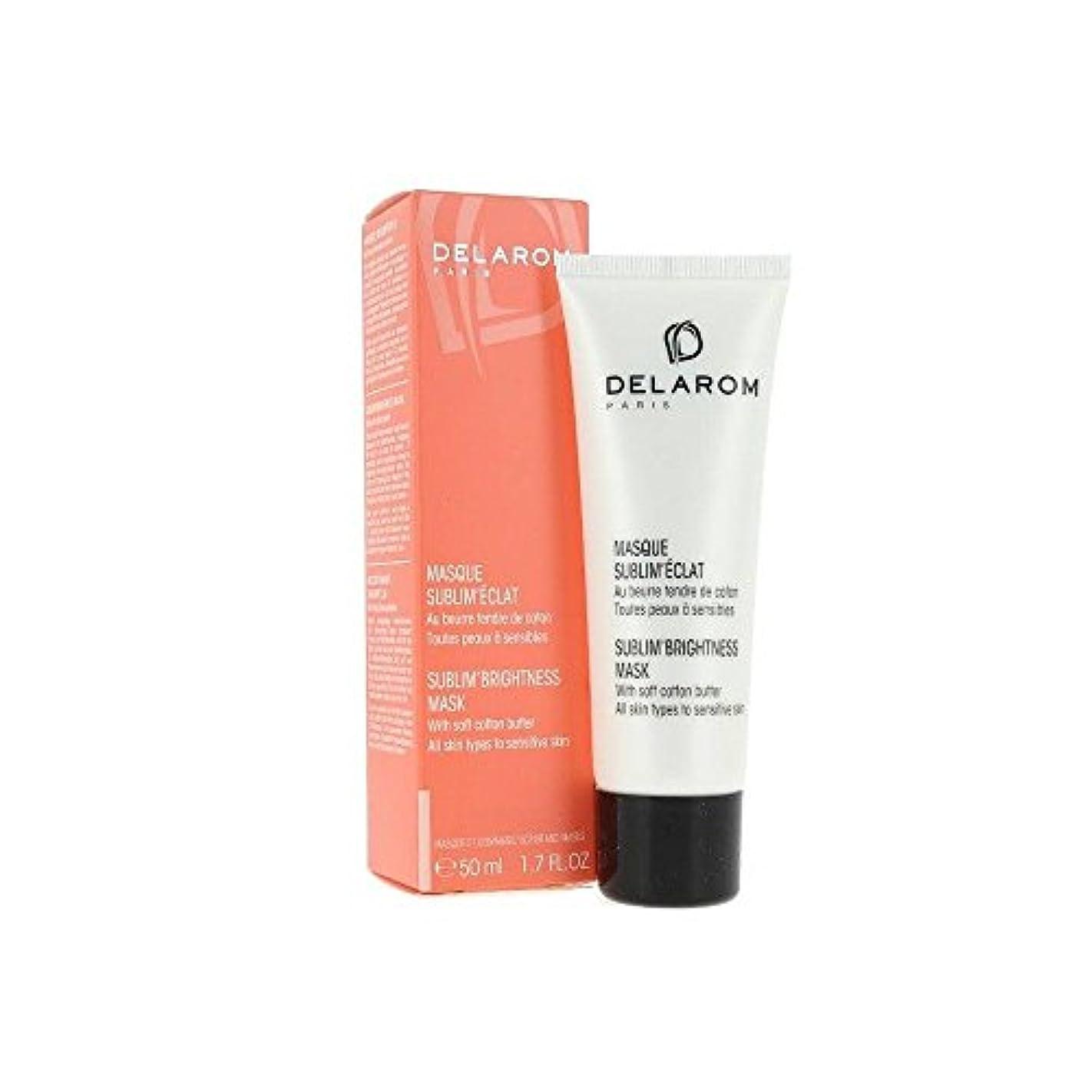 シャトル洗剤めったにDELAROM Sublim' Brightness Mask - For All Skin Types to Sensitive Skin 50ml/1.7oz並行輸入品