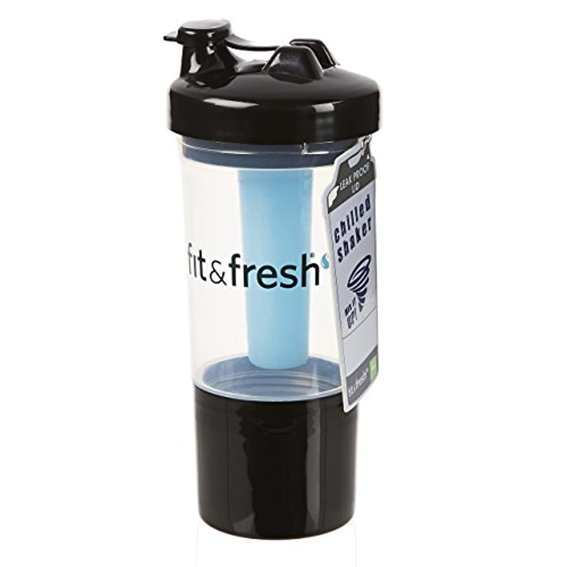馬鹿穿孔する装置Fit & Fresh, CleanTek, Shaker Cup with Ice Wand Agitator & Storage Cup, 1 Cup