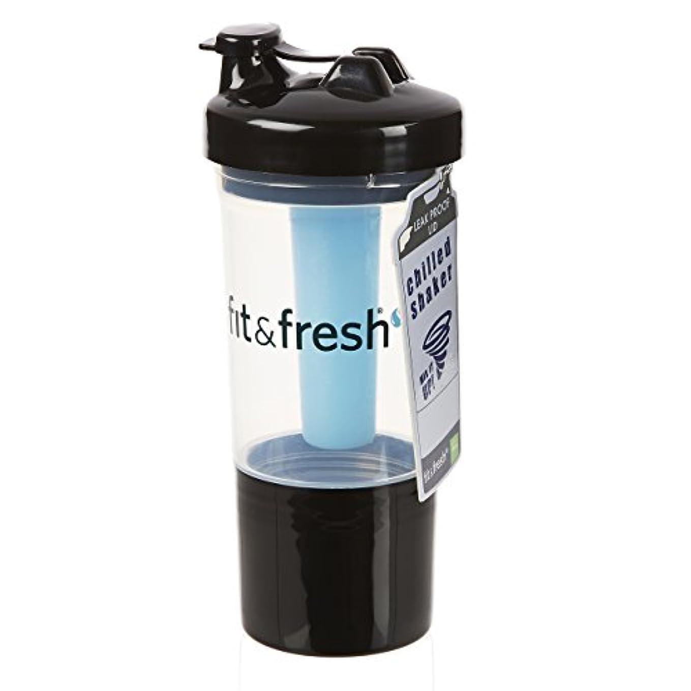 小学生意気消沈したを除くFit & Fresh, CleanTek, Shaker Cup with Ice Wand Agitator & Storage Cup, 1 Cup