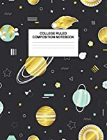 College Ruled Composition Notebook: Cute Blank Lined Journal to Write In with White Paper Rule Pages for School Subject and Writing Pad : Design Code A4 3613