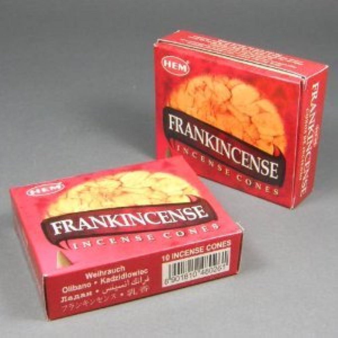 理論的その累計Hemフランクインセンス香Dhoop Cones、10円錐のペアボックス