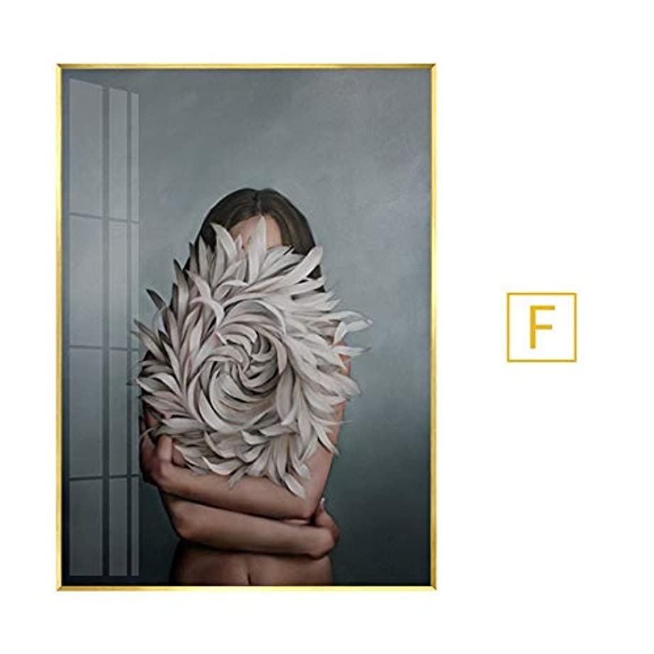 没頭するまだら三番木製フォトフレーム フォトフレーム6 x 4フレームローズゴールドウォールアート銅フォトフレーム風景フォトフレームフォトフレームガラス シングルフォトフレーム (Color : F, Size : 80X100 (PS frame))