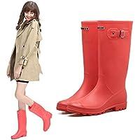 MEIGUIshop Rain Boots - Non-Slip Waterproof Rubber Shoes high Boots rain Boots Water Shoes