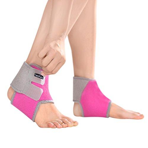 Bao Core バラ色のMのために左の両方の足サポーター子供負担の痛みを軽減する簡単なインストールのストレッチ通気性の良いを低減するためのアンクルブレース足首捻挫ジュニア骨折腱鞘炎保護対策バスケットボールアウトドアスポーツ バラ色M