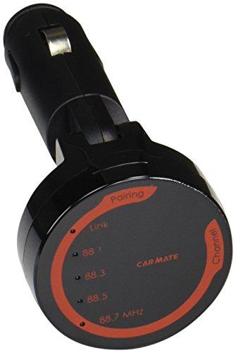 [해외]카메 차량용 FM 송신기 Bluetooth 전파법 적합 품 충전 + NFC 기능/Car Mate Car FM Transmitter Bluetooth Radio Code Conformity Charging + NFC Function
