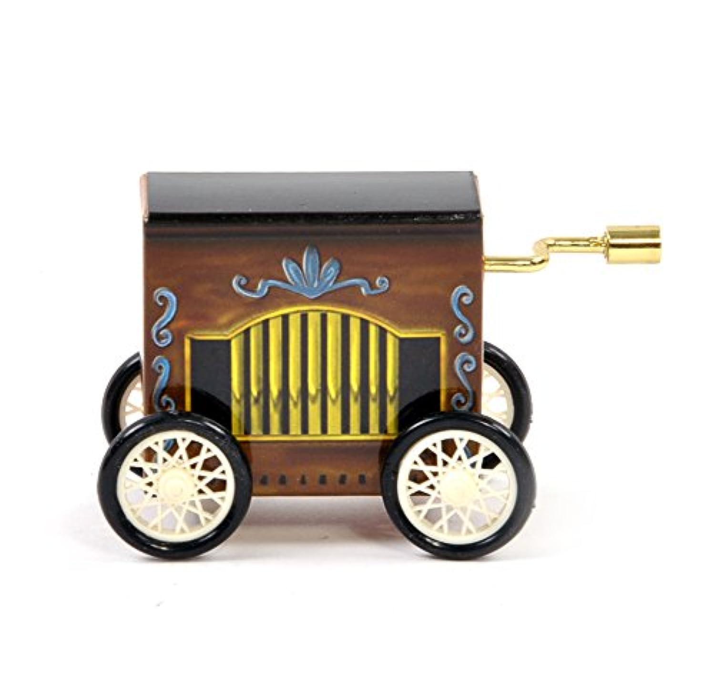 エーデルワイスーハンドクランクオルゴールーハンドクランクオルゴールー回転板で動くハーディ?ガーディー