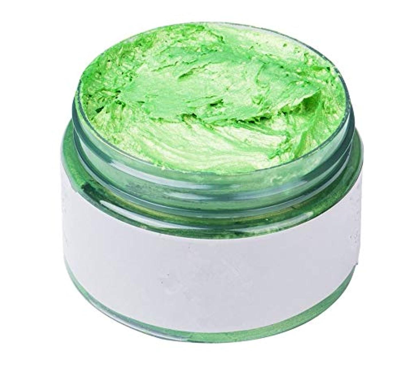 貴重な控えめな憂慮すべきカルドール ワックス カラーバター ワンタイムヘアカラーの泥 ヘアクリーム 120g カラーリング ヘアトリートメント 全7色 (グリーン)