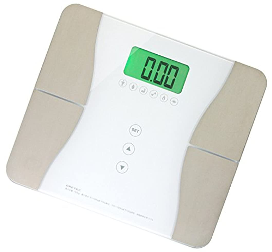 陰気標準道徳ドリテック 【体重を50g単位で計測 / ユーザー自動判別機能で乗ってすぐに測れる】 体重体組成計 「エクシー」 ホワイト BS-228WT