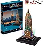 3D Empire State Building Puzzle (With LED lighting!) by Cubic Fun [並行輸入品]