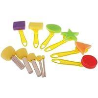 Fityle 子どものおもちゃ ペイントブラシ 再利用可能 絵画ブラシ 工具 プラスチック 約11個セット