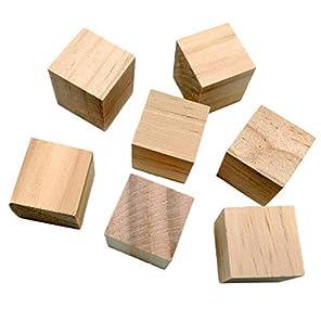 ノーブランド品 DIY クラフト 40枚 木製 キューブ 素朴 装飾 方体 木のブロック 20 * 20 * 20mm