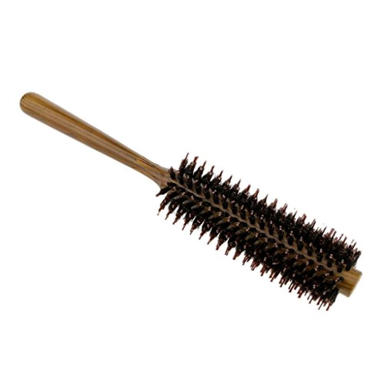 依存する意味のある頭3サイズ選べる ロールブラシ ヘアブラシ コーム 櫛 ヘアスタイリング 耐熱仕様 カール 巻き髪 便利 頭皮マッサージ - S