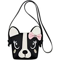 Kids Bowknot Single Shoulder Bag Cute Dog Small Crossbody Bag Wallet Handbag