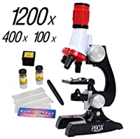 Science Kits For Kids Microscope Beginner Microscope Kit Led 100x, 400x, And
