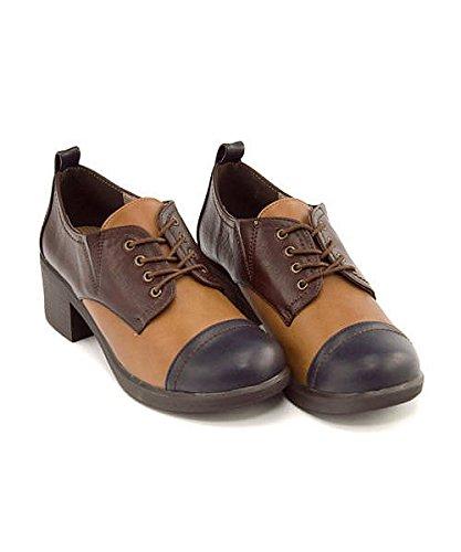[해외][바이 키다리 아저씨] by 키다리 아저씨 여성 옥스포드 슈즈 두께 힐 안락한 피곤없는 레이스 업 쿠션 예쁜 캐주얼 데일리 트렌드 사무실 비즈니스 8980303/[Ashina na Oka] by Ashinaga Old Ladies Oxford Shoes Thick heal easy to walk easy lace...