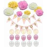 KLUMA 飾り付けセット お誕生日 華やか おしゃれ パーティー デコレーション 装飾 25点