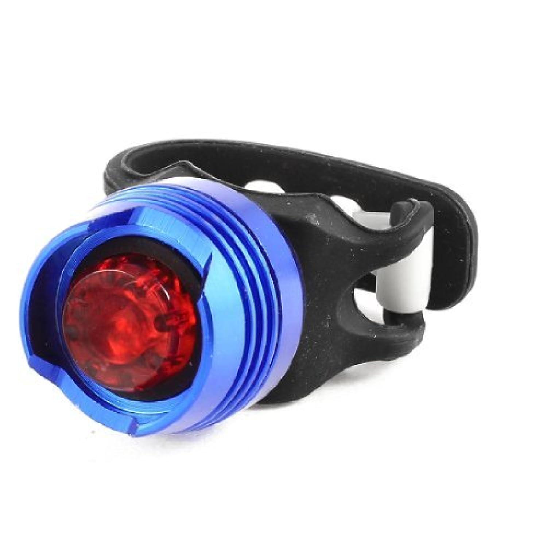 サイクリング自転車用プラスチックブラケット付ブルーアルミケースレッドLEDライト