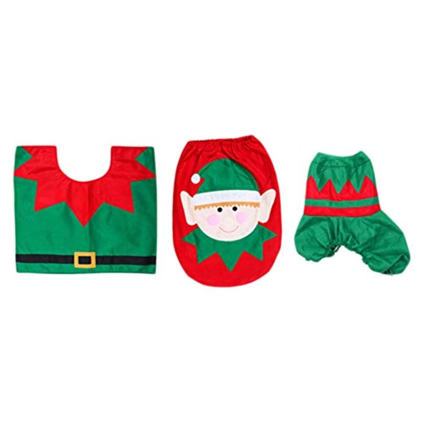 インタビュー腐食する圧倒的Swiftgood 浴室のための3部分のクリスマスの装飾のスノーマン様式の便座カバー