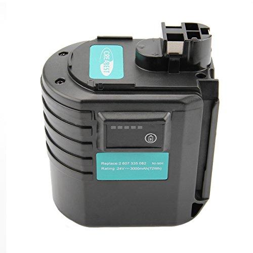 Creabest ボッシュ 互換バッテリー24V 3000mAh 大容量 ニッケル水素電池 Bosch ボッシュBAT019 BAT021 BAT020 2607335082 2607335215 2607335216