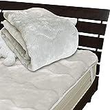 メーカー直販 あったかムートン調 アクリルマイヤー毛布敷きパッド シングル 100×205cm グレー