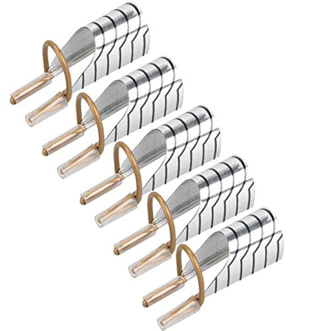 侮辱新着メンテナンス5 PCSの実用的なネイルチップの拡張についてアルミ再利用可能なフォームガイドテーブルガイドポータブルアクリルフレンチマニキュアゲルポーランド(銀)を形成します