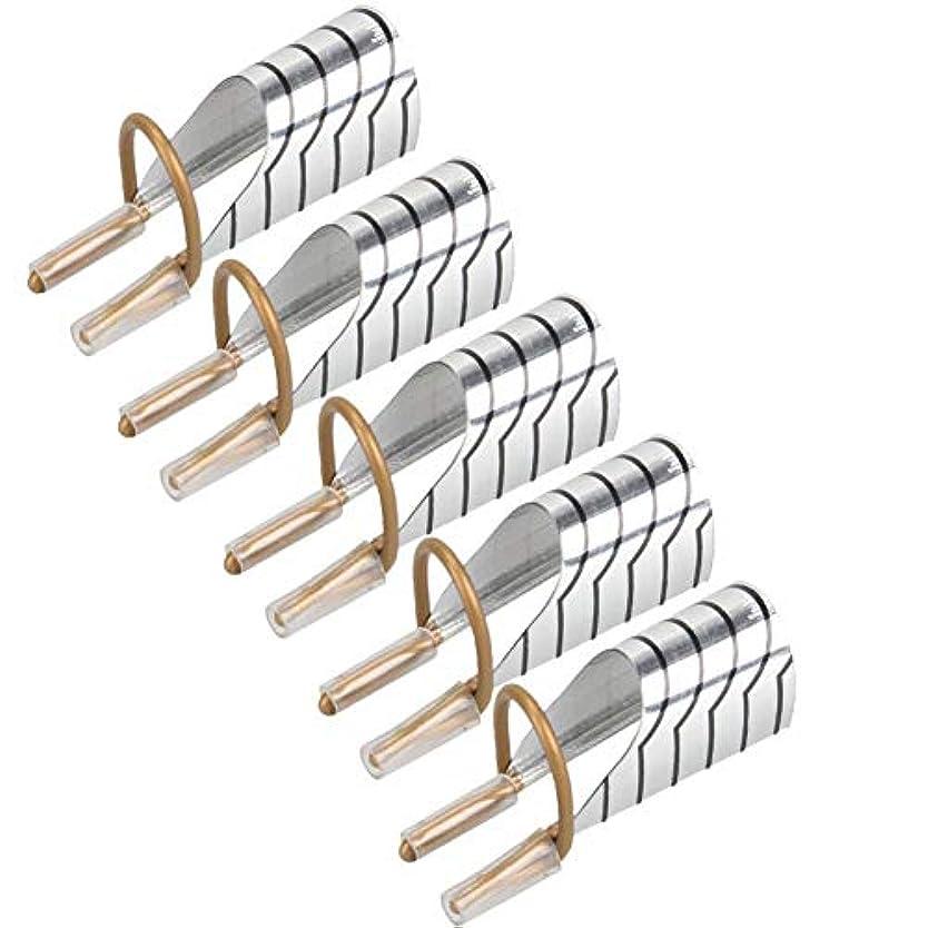 舞い上がる羊飼い公爵夫人5 PCSの実用的なネイルチップの拡張についてアルミ再利用可能なフォームガイドテーブルガイドポータブルアクリルフレンチマニキュアゲルポーランド(銀)を形成します