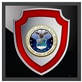 アメリカ空軍 U.S. Air Force エンブレム マットブラックメタルフレーム [88 x 88cm] 受注生産品