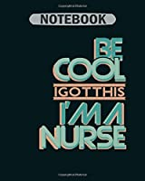 Notebook: nurse on duty - 50 sheets, 100 pages - 8 x 10 inches