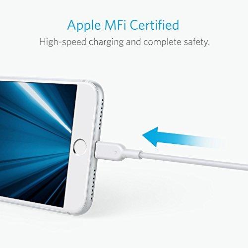 Anker PowerLine II ライトニングUSBケーブル【Apple MFi認証取得 / 超高耐久】iPhone / iPad / iPod各種対応 (0.9m ホワイト)