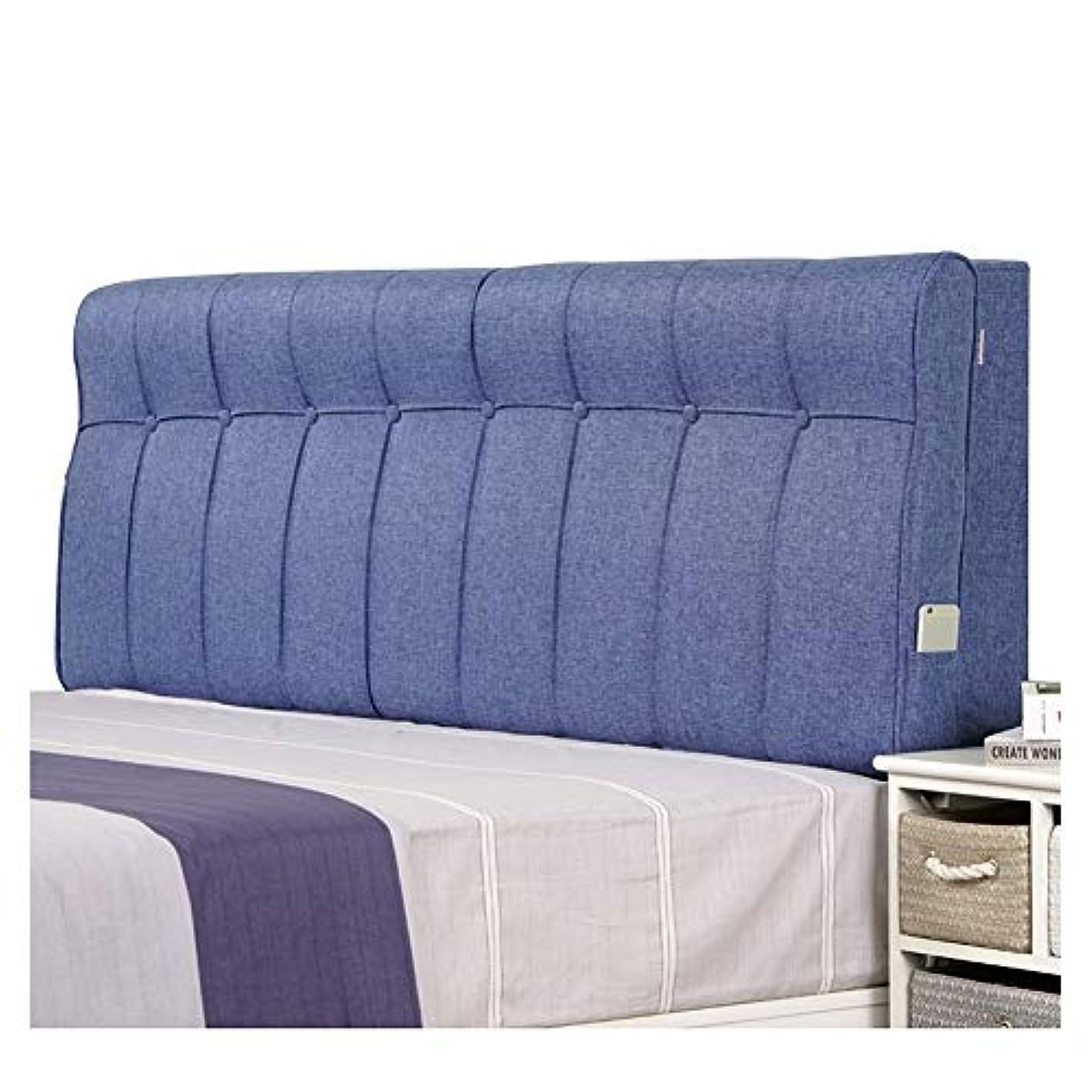 ワークショップグレートバリアリーフ詳細なLIANGLIANG クションベッドの背もたれ 多機能 ベッドサイド 枕 サポート 腰 金属 ジッパー リムーバブル、 5色 (Color : Blue, Size : 120cm)
