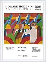 ポスター ハワード ホジキン Absent Friends The Tilsons Exhibition 額装品 ウッドハイグレードフレーム(ホワイト)