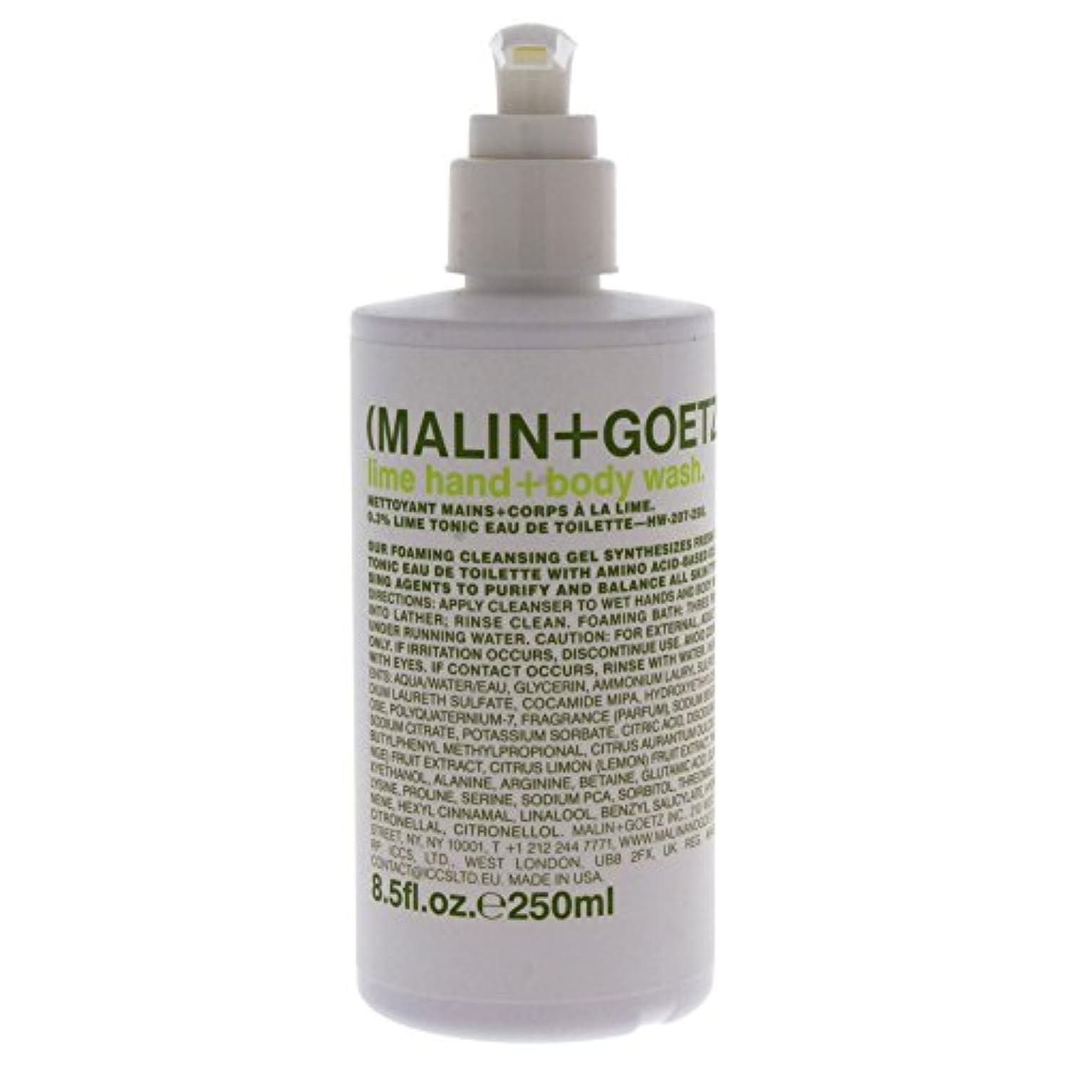 政治家の輪郭慢Malin + Goetz Lime Hand Wash W. Pump-8.5 Oz. by (Malin + Goetz)