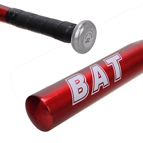 野球 バット 硬式金属 少年と大人用 軽い 赤い 20インチ 1本入れ