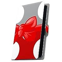 タブレット 手帳型 タブレットケース タブレットカバー カバー レザー ケース 手帳タイプ フリップ ダイアリー 二つ折り 革 水玉 リボン 赤 レッド 007942 MediaPad M3 Lite Huawei ファーウェイ MediaPad M3 Lite メディアパッド M3 Lite m3litemdpd m3litemdpd-007942-tb
