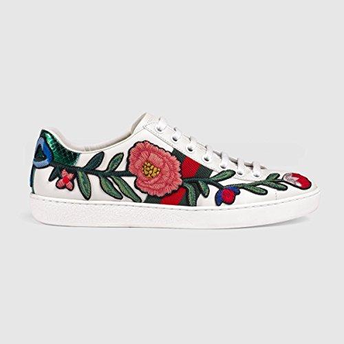 (グッチ) GUCCI 刺繍されたエーススニーカー Embroidered Ace sneakers FLOWER (並行輸入品) najaba