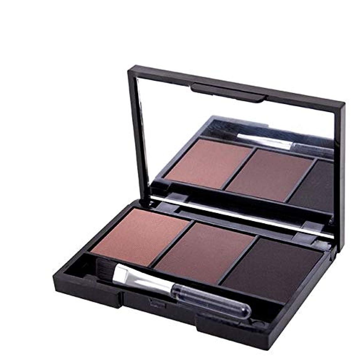 主流チェスダイバー健康と美容アイシャドウ プロフェッショナルキットロングラスティングアイブロウシャドウパレット、ソフトブラシとミラー付き(1) 化粧 (色 : 3)