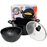 World's Greatest Pot, Cooking Pasta Pot with Built-in Strainer