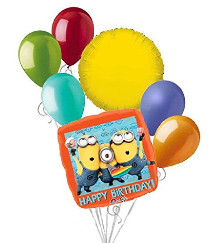7 PC怪盗グルーミニオンズHappy誕生日バルーンブーケパーティー装飾