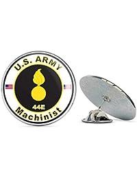 Veteran Pins U.S. Army MOS 44E Machinist メタル 0.75インチ ラペルハット ピン タイタック ピンバック