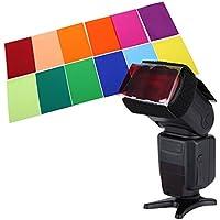 Dolity フラッシュ照明用ゲルフィルター 透明 色補正 12色