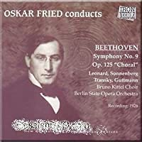 Oskar Fried Conducts Beethoven's 9th