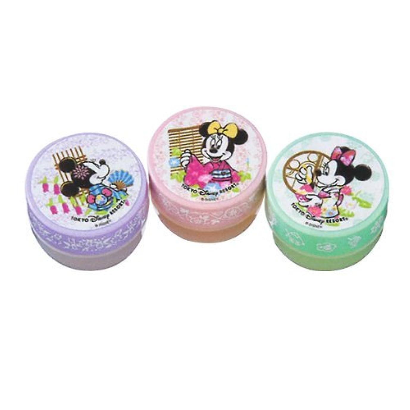 ラメ事前に必要性ミニーマウス ハンドクリームセット 浴衣柄 【東京ディズニーリゾート限定】