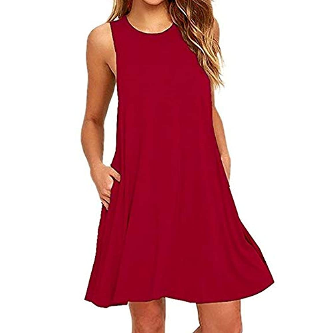 注意磁気変更MIFAN 人の女性のドレス、プラスサイズのドレス、ノースリーブのドレス、ミニドレス、ホルタードレス、コットンドレス