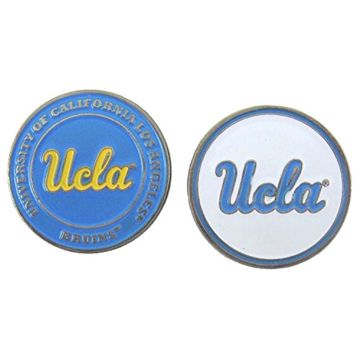 どきどき欲求不満テレビ局UCLA Bruins両面ゴルフボールマーカー