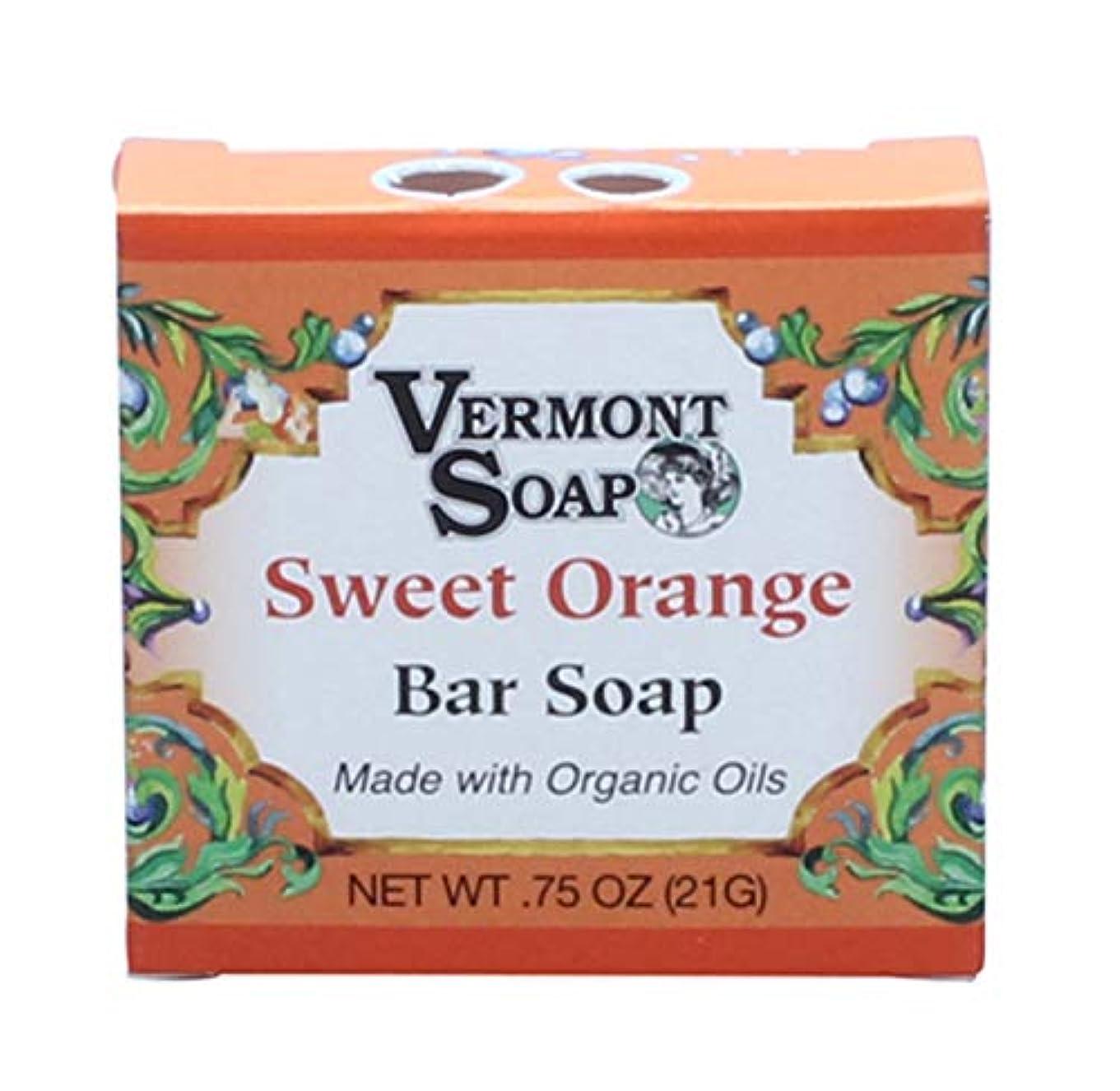 褐色同一性ラグバーモントソープ トラベルサイズ (スイートオレンジ) オーガニック石鹸 洗顔 21g