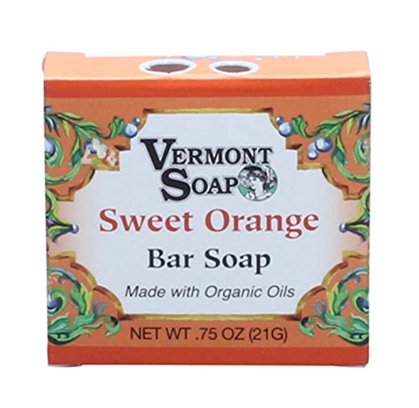 憲法司教探すバーモントソープ トラベルサイズ (スイートオレンジ) オーガニック石鹸 洗顔 21g