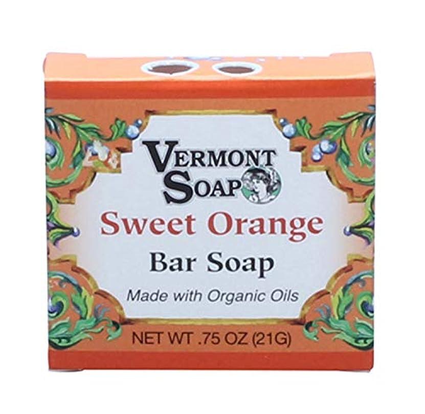 回復改修するわなバーモントソープ トラベルサイズ (スイートオレンジ) オーガニック石鹸 洗顔 21g