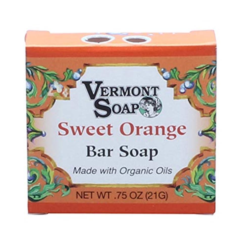 クールテラス富バーモントソープ トラベルサイズ (スイートオレンジ) オーガニック石鹸 洗顔 21g
